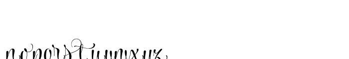 Wishes Script Pro Text Bold Font LOWERCASE