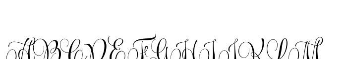 Wishes Script Pro Text Regular Font UPPERCASE