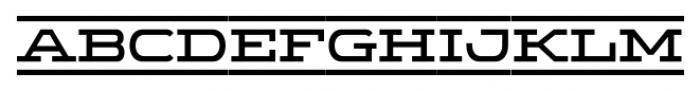 Wide Display Regular Ribbon Font UPPERCASE