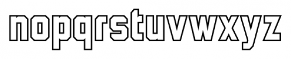 Wildcat Outline Font LOWERCASE