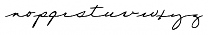 Wilma Handwriting Regular Font LOWERCASE