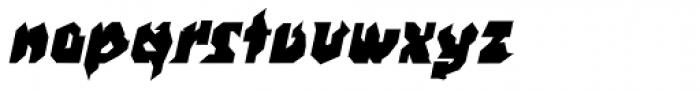 WILD1 Nobody Bold Italic Font LOWERCASE