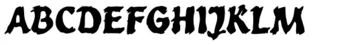WILD1 Toxia Bold Font UPPERCASE