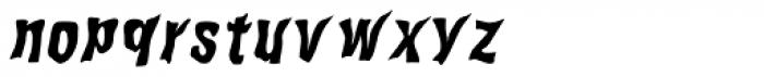 WILD2 Ghixm Bold Italic Font LOWERCASE