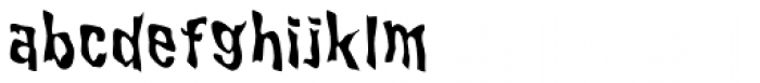 WILD2 Ghixm Normal Font LOWERCASE