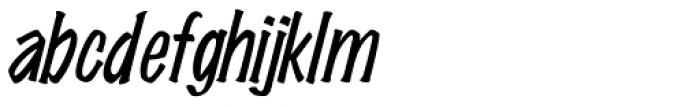 Wichita Italic Font LOWERCASE