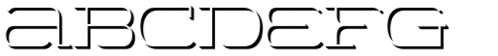 Wide Display Light Shadow Font LOWERCASE