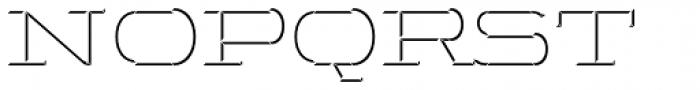 Wide Display Regular 3D Down Font UPPERCASE