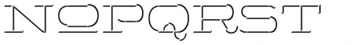 Wide Display Regular 3D Down Font LOWERCASE