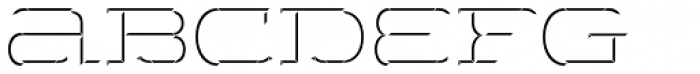 Wide Display Regular 3D Up Font LOWERCASE