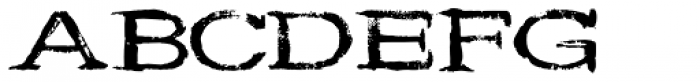 Wide Noise Font UPPERCASE