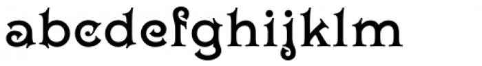 Wieldy Font LOWERCASE