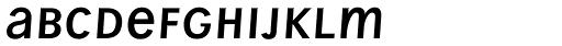 Wien Pro Unic Oblique Light Font LOWERCASE