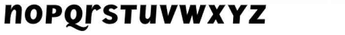 Wien Pro Unic Oblique Medium Font LOWERCASE