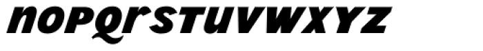 Wien Pro Unic Superoblique Bold Font LOWERCASE