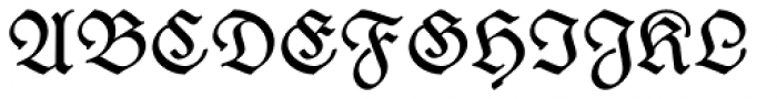 Wieynck Fraktur Regular Font UPPERCASE