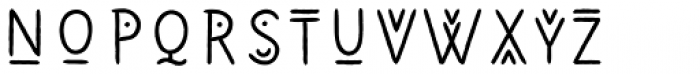 Wigwams Decorative Font LOWERCASE