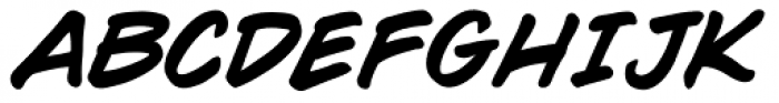 WildWords Bold Italic Font UPPERCASE