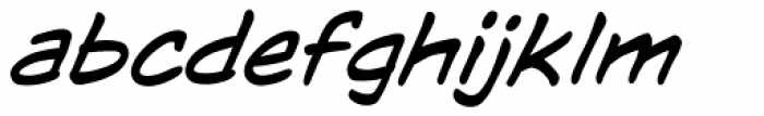 WildWords Lower Italic Font LOWERCASE
