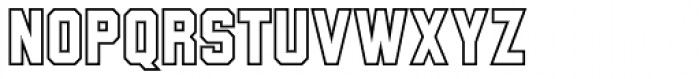 Wildcat Outline Font UPPERCASE