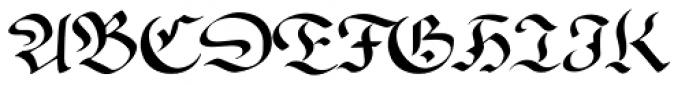Wilde Fraktur Pro Font UPPERCASE