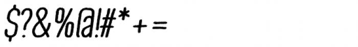 Wilder Bold Oblique Font OTHER CHARS