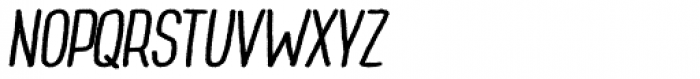 Wilder Bold Oblique Font UPPERCASE