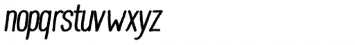 Wilder Bold Oblique Font LOWERCASE