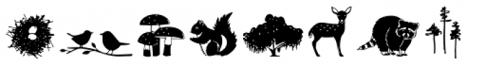 Wilderness and Home Collection Woodland Doodles Font UPPERCASE