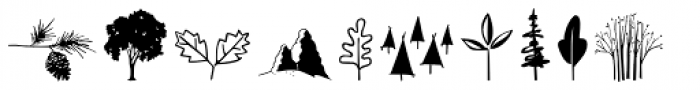 Wilderness and Home Collection Woodland Doodles Font LOWERCASE