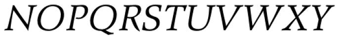 Wile Pro Italic Font UPPERCASE