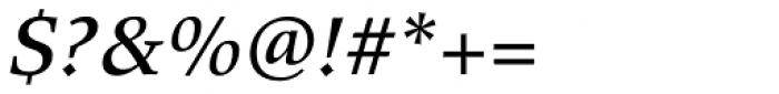 Wile Std Medium Italic Font OTHER CHARS