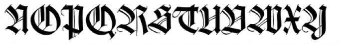 Wilhelm Klingspor Gotisch Com Roman Font UPPERCASE