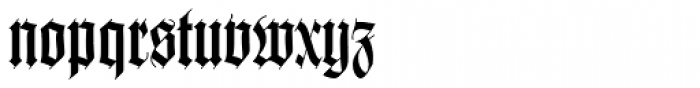 Wilhelm Klingspor Gotisch Font LOWERCASE