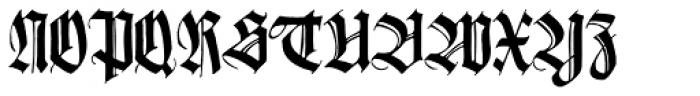 Wilhelmschrift Font UPPERCASE