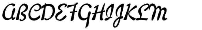 Willard Sniffin Script Bold Font UPPERCASE