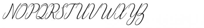 Wilona Italic Font UPPERCASE