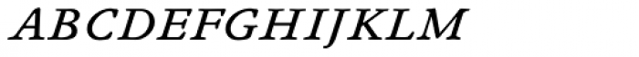 Winchester New Book Italic SC Font LOWERCASE