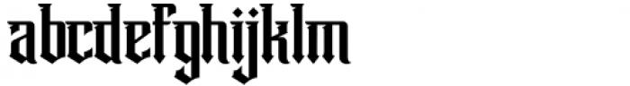 Winchester Regular Font LOWERCASE