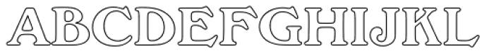 Windsor Com Bold Outline Font UPPERCASE