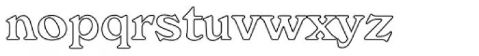 Windsor Com Bold Outline Font LOWERCASE