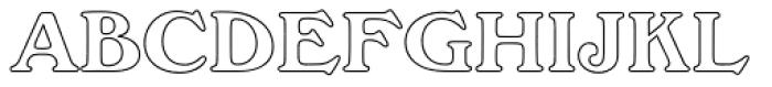 Windsor EF Bold Outline Font UPPERCASE