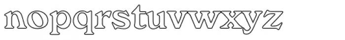 Windsor EF Bold Outline Font LOWERCASE
