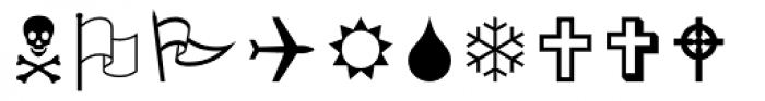 Wingdings Font UPPERCASE