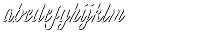Wingman Brush Bold Shadow Font LOWERCASE