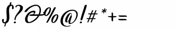 Wingman Brush Regular Font OTHER CHARS