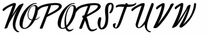 Wingman Brush Regular Font UPPERCASE