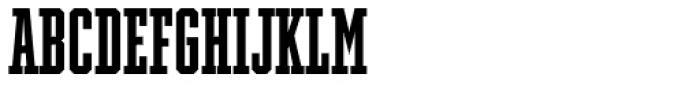 Winner Ultra Compressed Medium Font LOWERCASE