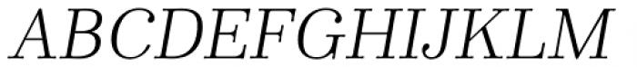 Winslow Book Light Italic Font UPPERCASE