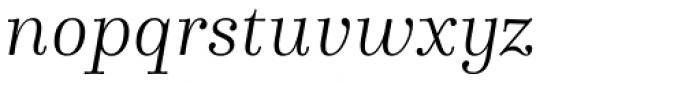 Winslow Book Light Italic Font LOWERCASE